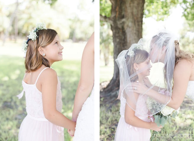 sweetest bond between bride and flower girl by nassimbeni photography