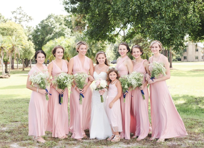 bridesmaids in pink by nassimbeni photography