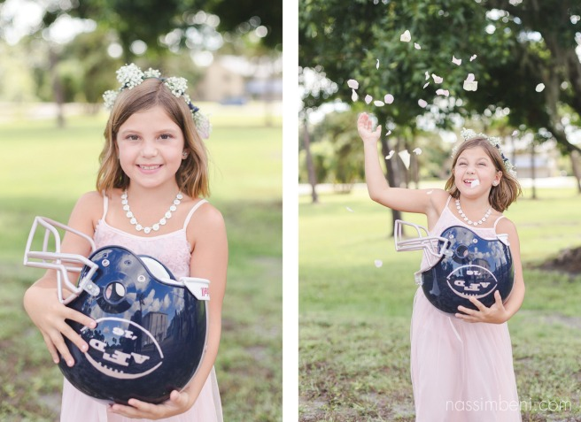 flower girl football helmet basket by nassimbeni photography
