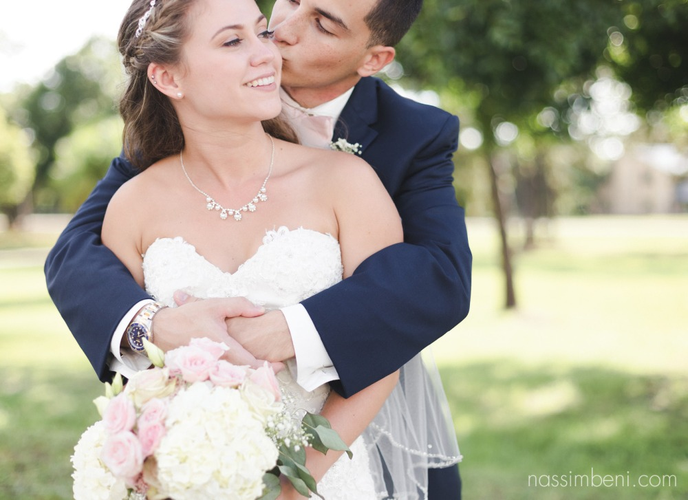 navy and pink bridal portraits by nassimbeni photography