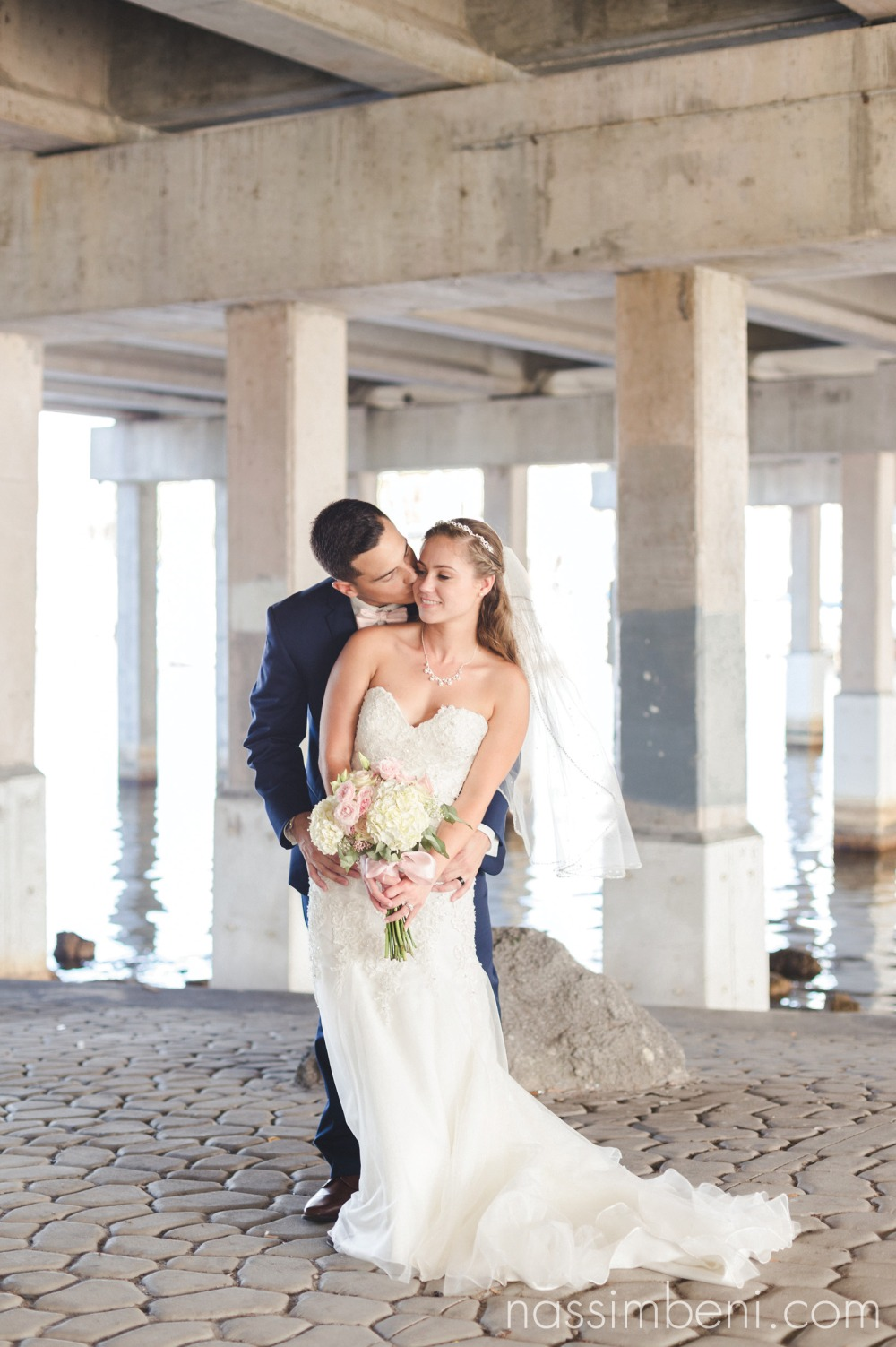 frame worthy bride and groom photo at crane creek promenade park by nassimbeni photography