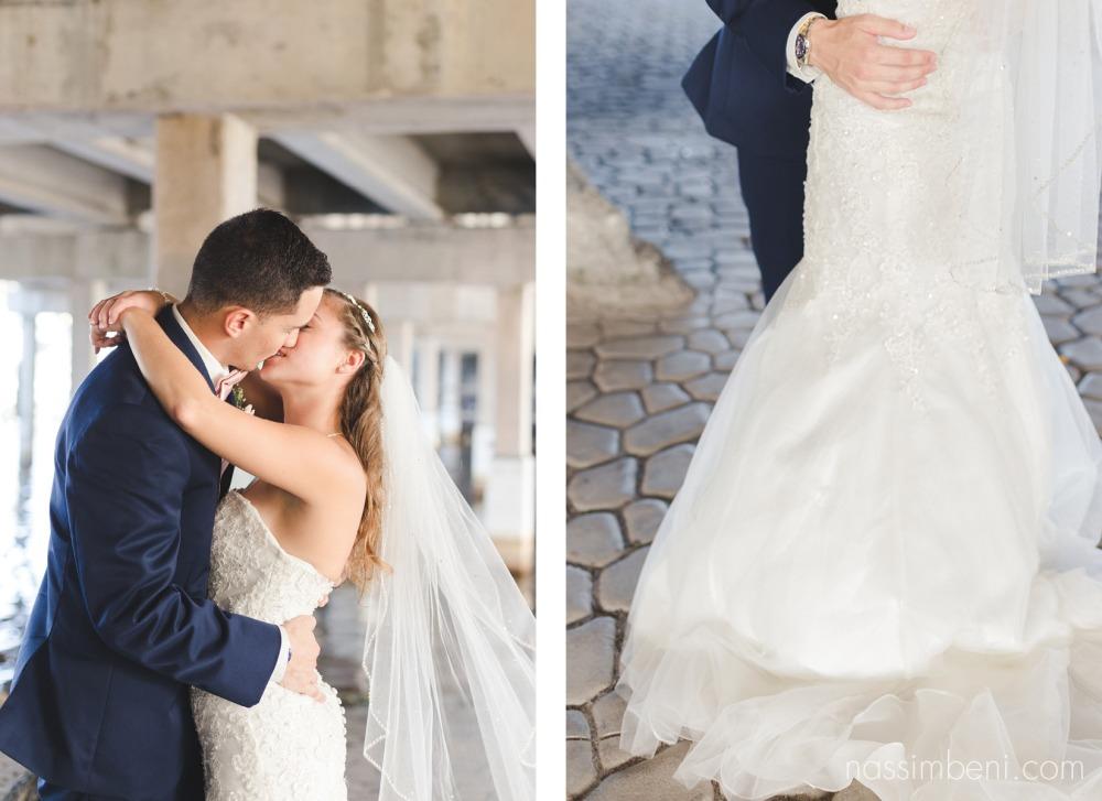bride and groom crane creek promenade park