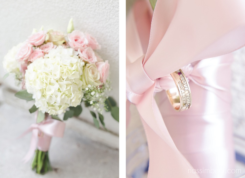 grandma's ring tied to brides bouquet as her something borrowed by nassimbeni photography