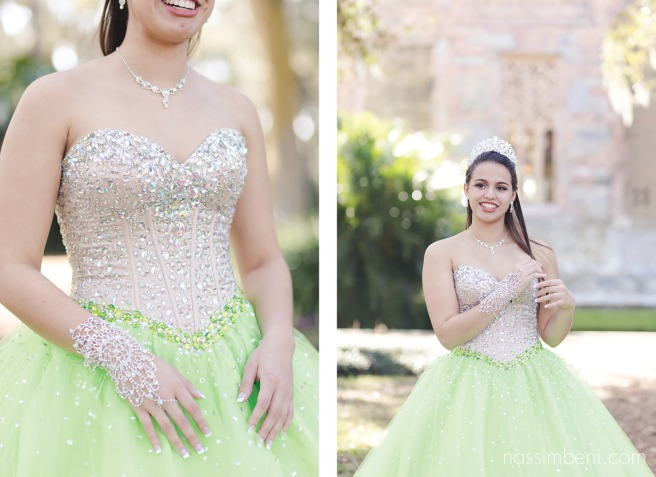 quinceanera ball gown at bok tower gardens by nassimbeni photography