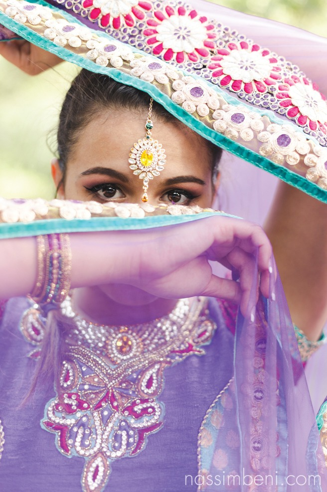 indian saree outfit at bok tower gardens by nassimbeni photography