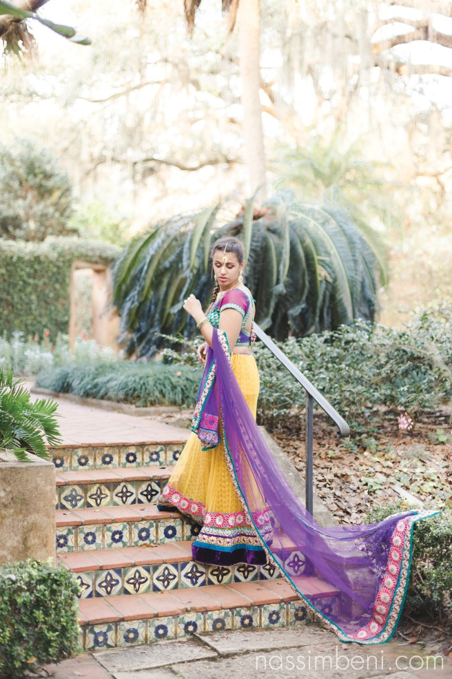 yellow and purple indian saree at pinewood estate by nassimbeni photography