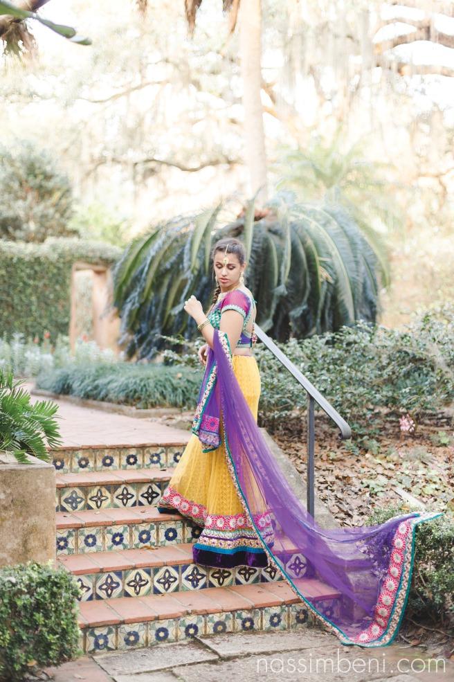 yellow and purple indian saree at pinewood estate by nassimbeni photography