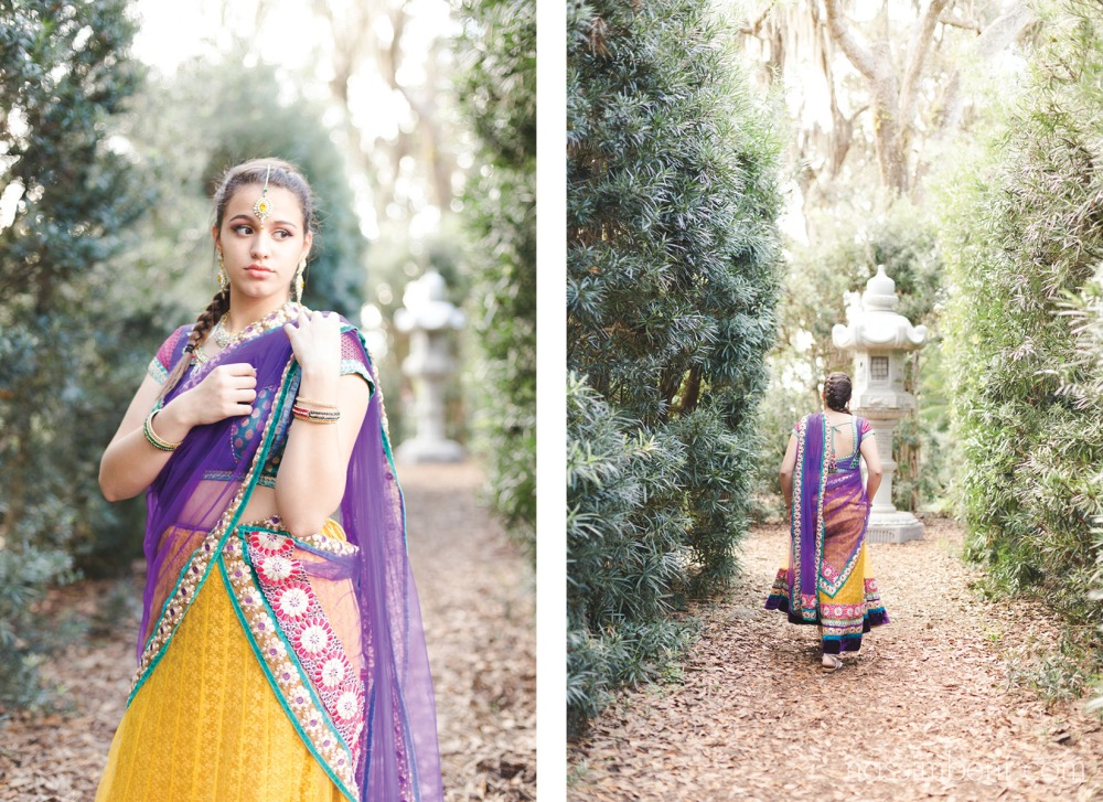 indian theme photoshoot at bok tower gardens by nassimbeni photography