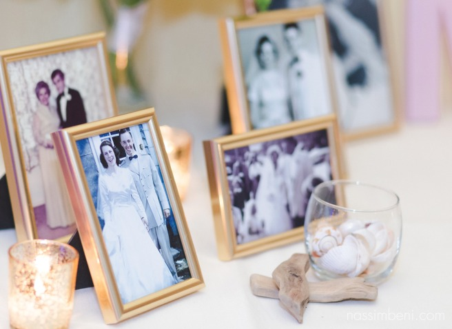 out of the blue wedding decorations frame of past family members weddings by nassimbeni photography