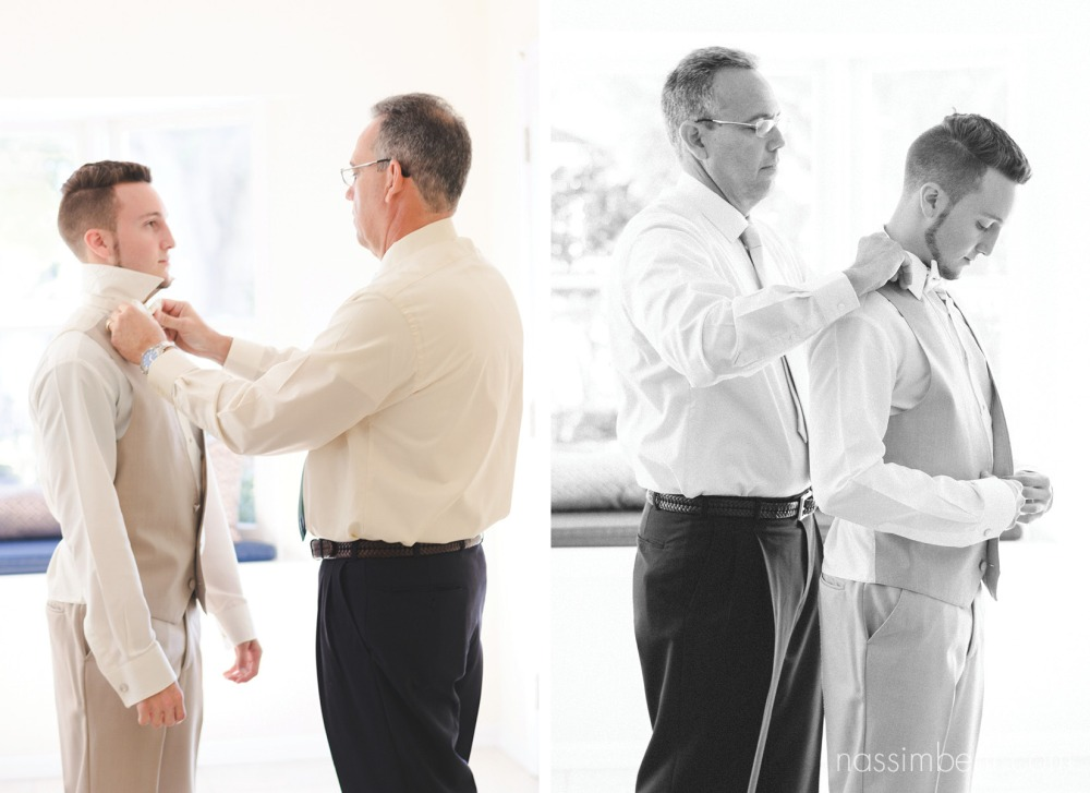 groom prep with help form his dad shot by sabrina henley of s&s henley photography