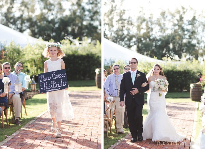 here comes the bride sign at bellewood plantation by Nassimbeni Photography