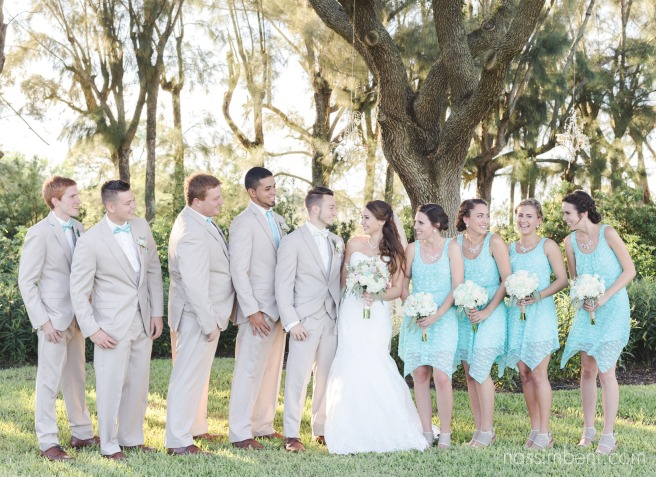 blue and creme bridal party at bellewood plantation by Nassimbeni Photography