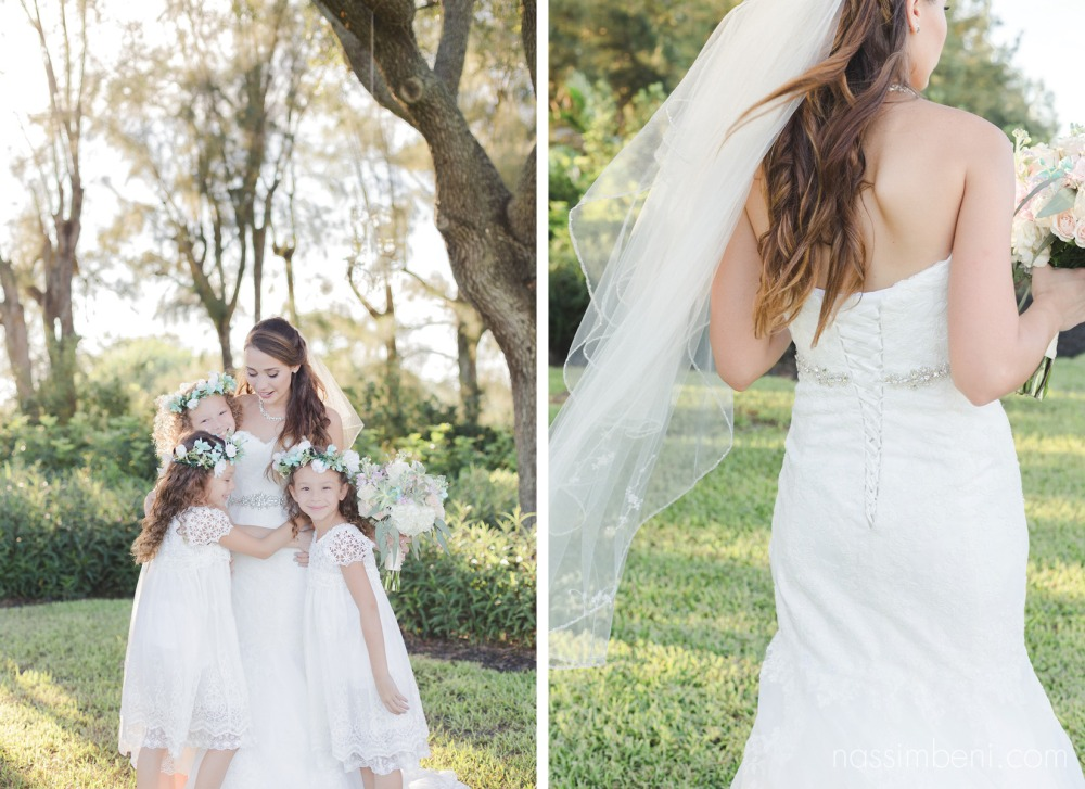 flower girls love the bride at bellewood plantation by Nassimbeni Photography