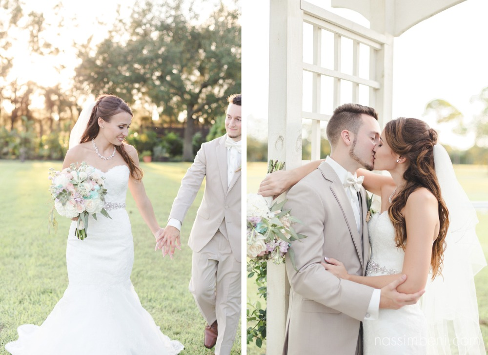 bride and groom at bellewood plantation by Nassimbeni Photography