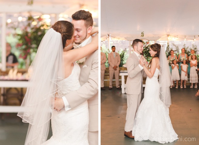 first dance under tent at bellewood plantation by Nassimbeni Photography