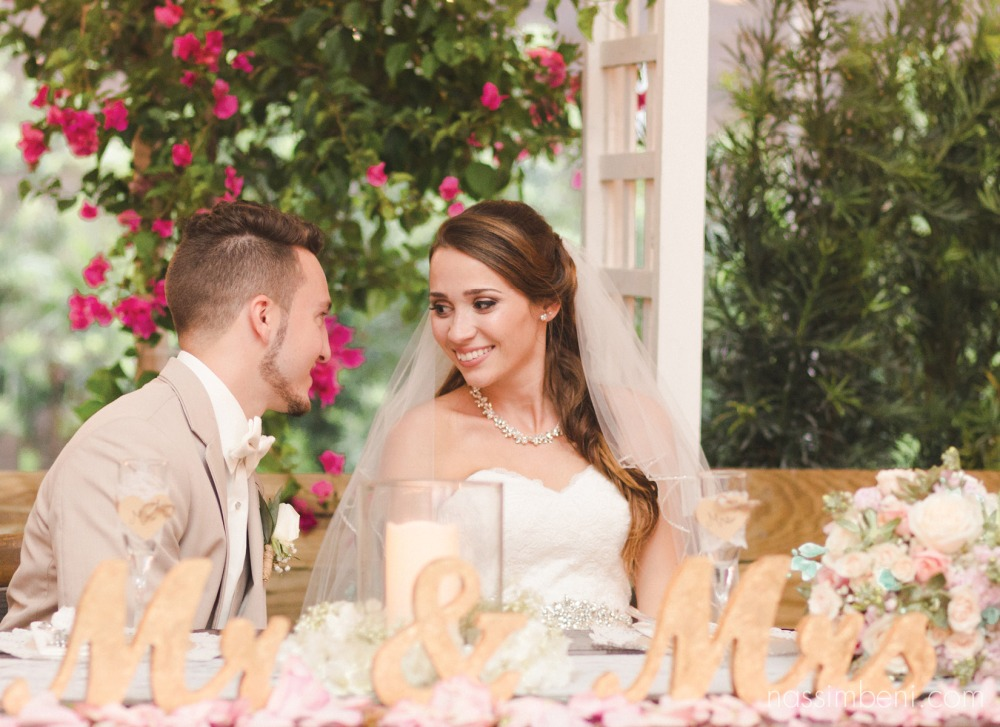 bride and groom glare at bellewood plantation by Nassimbeni Photography