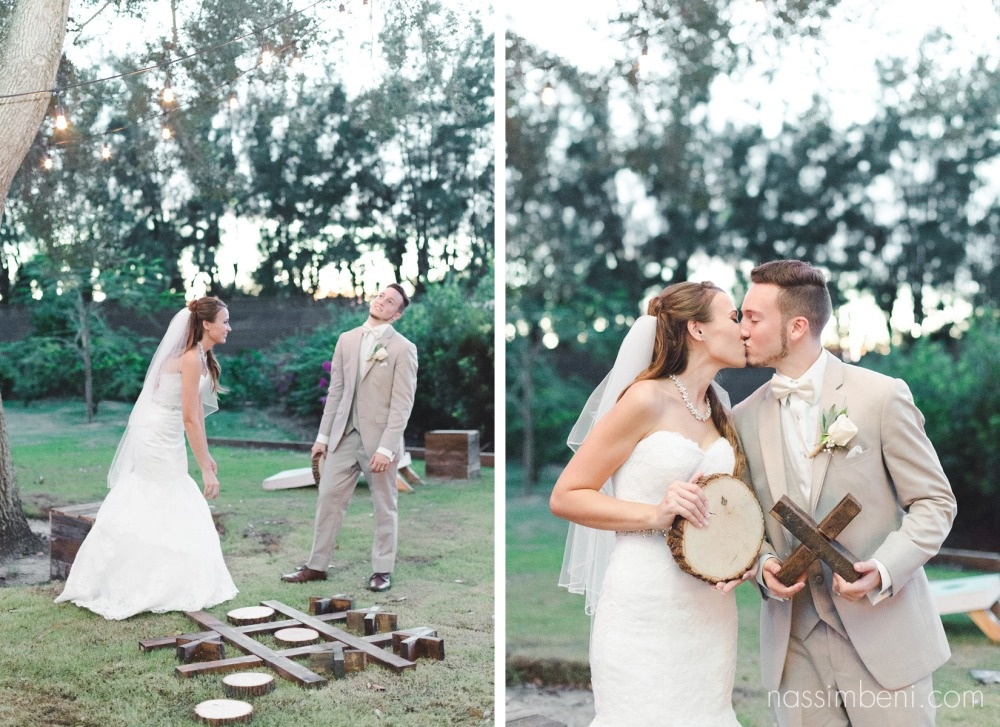 sunset photos with bride and groom at bellewood plantation by Nassimbeni Photography