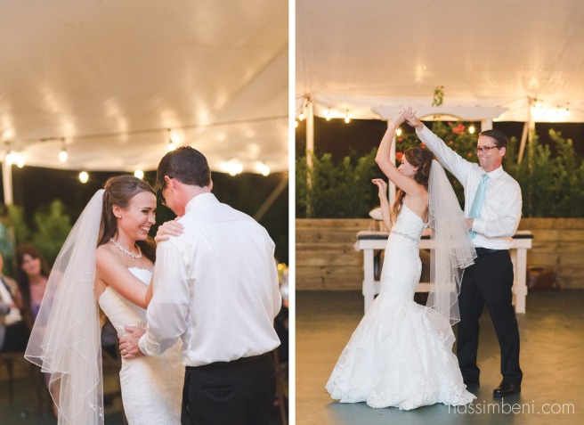 father daughter dance by Nassimbeni Photography under tent at bellewood plantation