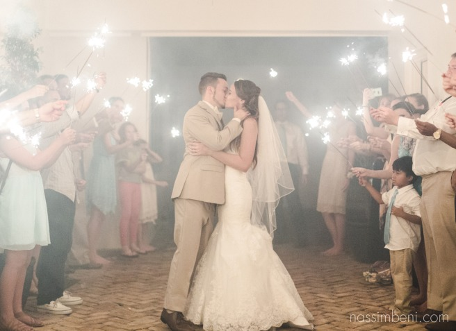 sparkler exit at bellewood plantation by Nassimbeni Photography