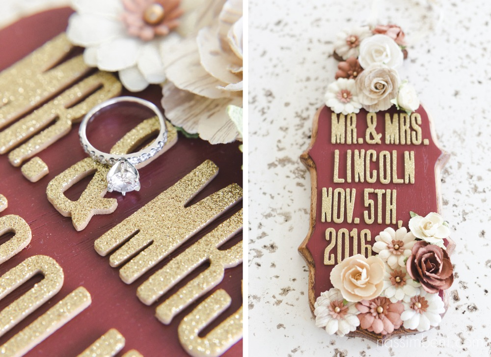 handmade gift for bride and groom at vero beach hotel and spa by Nassimbeni photography