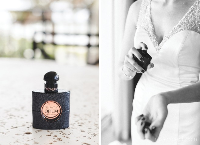 black opium perfume for brides at vero beach hotel and spa wedding by Nassimbeni Photography