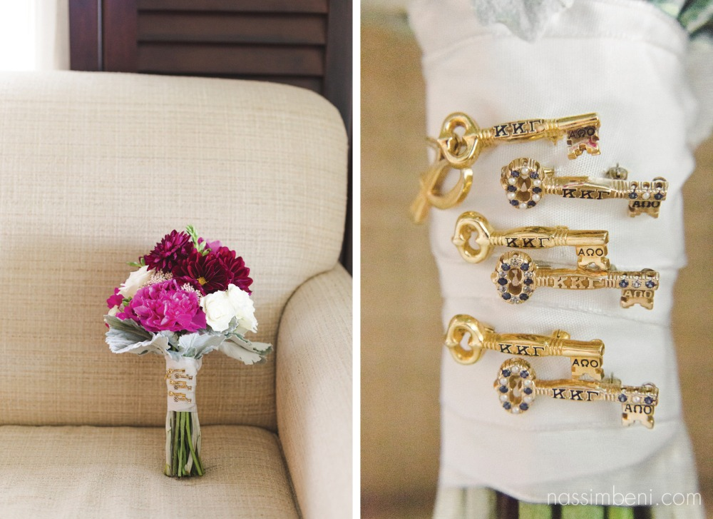 something borrowed from her kappa sisters on her bouquet Nassimbeni Photography