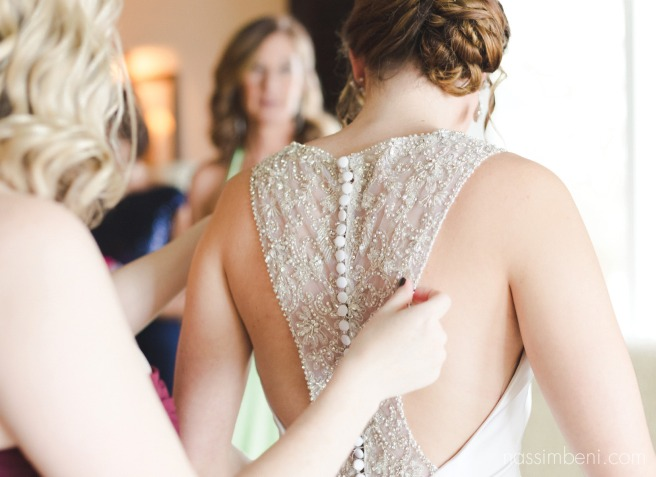 gorgeous detailed back of wedding dress from minervas bridal by Nassimbeni Photography