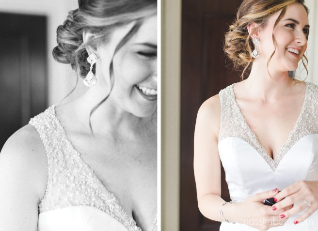 beautiful bride in modern wedding dress at vero beach hotel and spa by Nassimbeni Photography