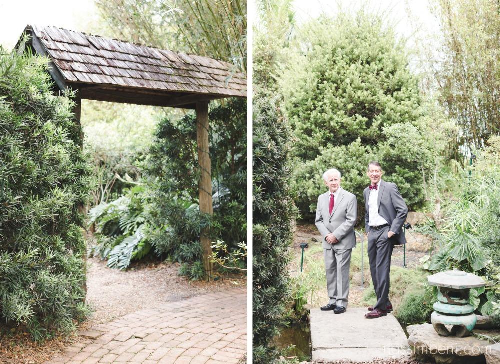 dad and grandpa first look reaction at heathcote botanical gardens wedding by Nassimbeni Photography
