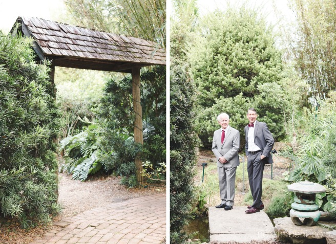 dad and grandpa first look reaction at heathcote botanical gardens wedding by Nassimbeni Photography