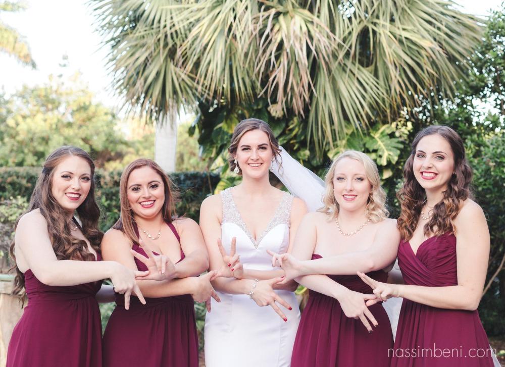 kappa bridesmaids at heathcote botanical gardens by Nassimbeni Photography