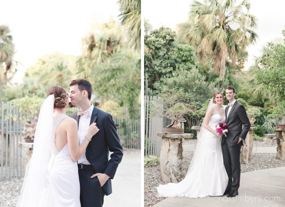 newlyweds at heathcote botanical garden wedding by port st lucie wedding photographer Nassimbeni Photography