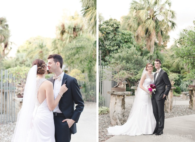 newlyweds at heathcote botanical garden wedding by port st lucie wedding photographer Nassimbeni Photography