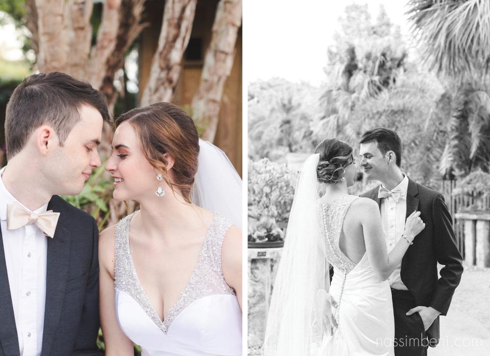 bride and groom at heathcote botanical gardens wedding Nassimbeni Photography