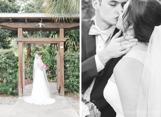 west palm beach wedding photographer at heathcote botanical gardens wedding in bonsai garden Nassimbeni Photography