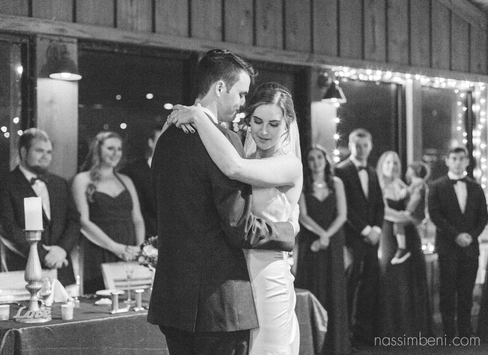 vero beach wedding photographer first dance photo of bride and groom Nassimbeni Photography