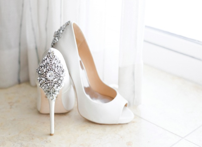 badly mischka wedding shoes at kimpton vero beach hotel and spa by vero beach wedding photographer Nassimbeni Photography