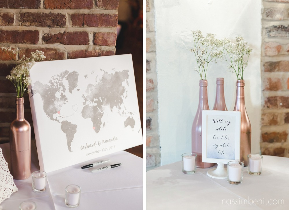 sign in map. south african groom at ft lauderdale intimate wedding by Nassimbeni Photography