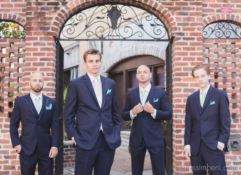 gentlemen at historic venue by vero beach wedding photographer Nassimbeni Photography