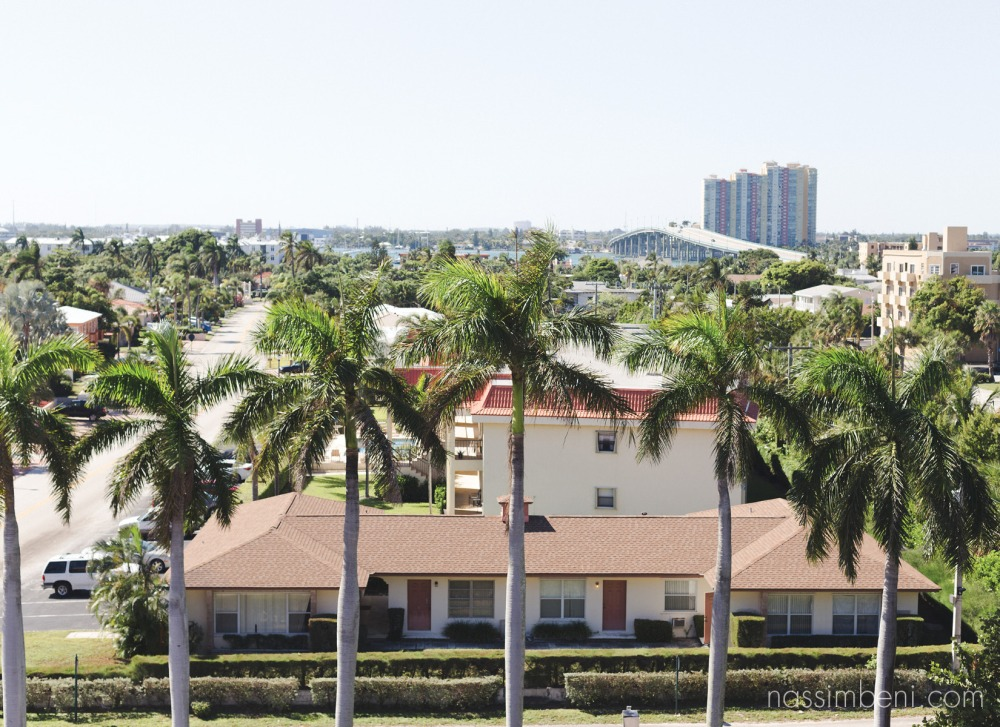 Palm Beach Shores Resort view from bridal prep room by nassimbeni photography