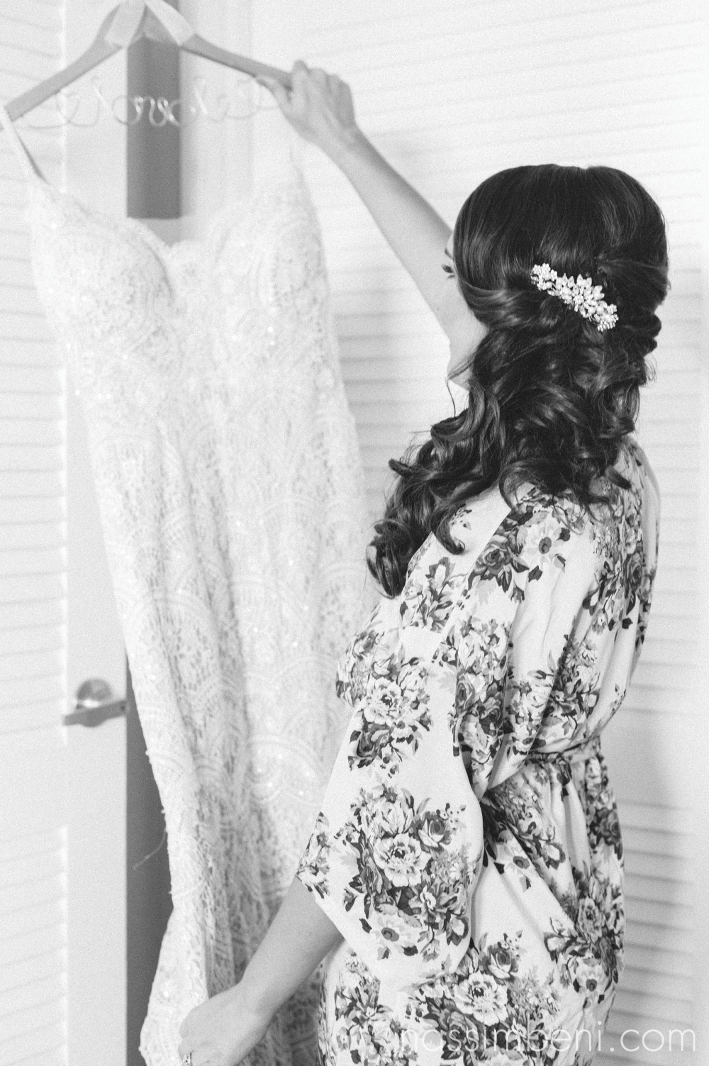 bride with isabellas bridal gown at palm beach shores resort by treasure coast wedding photographer nassimbeni photography