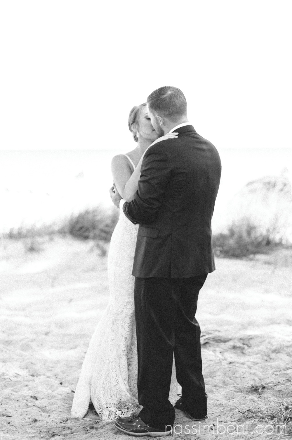 bride and groom at palm beach shores resort by port st lucie wedding photographer nassimbeni photography
