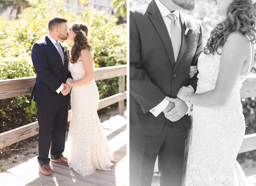 bride and groom at palm beach shores resort by treasure coast wedding photographer nassimbeni photography