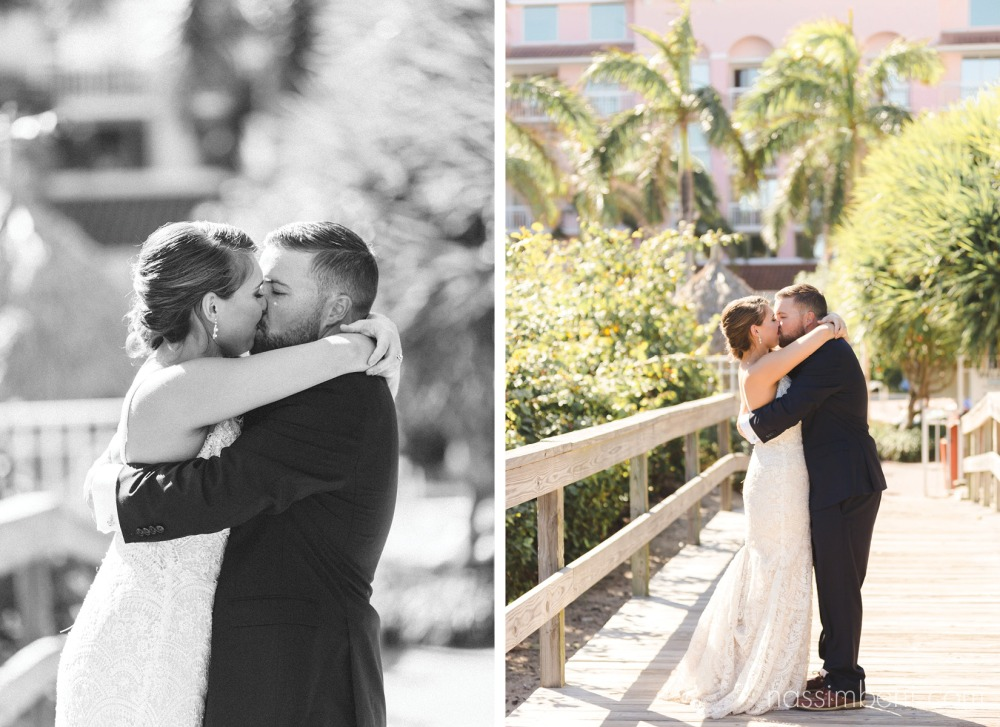 bride and groom at boardwalk in palm beach shores resort by nassimbeni photography