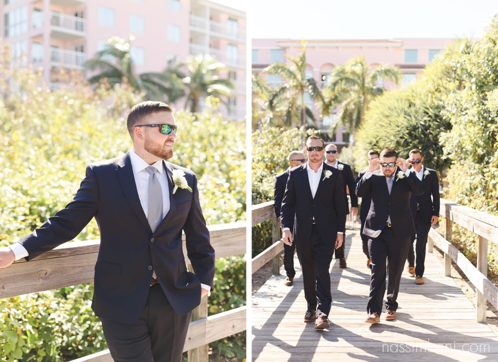 coastal theme groomsmen in navy and no ties by nassimbeni photography