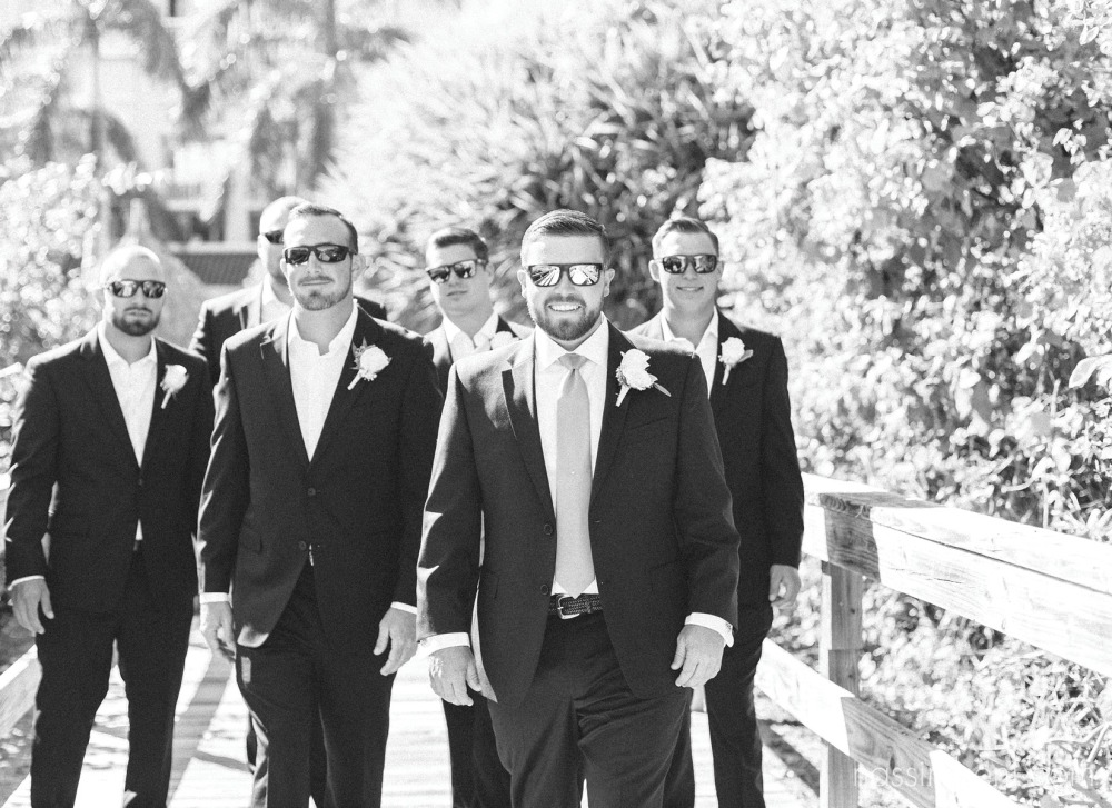 casual groomsmen at palm beach shores resort by nassimbeni photography