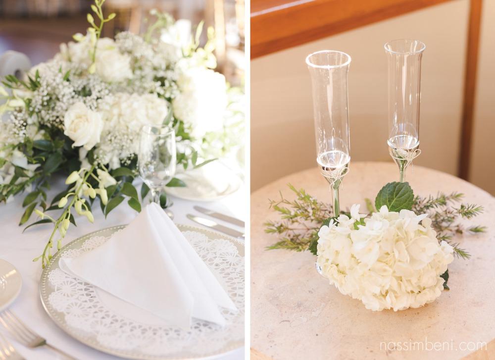 vera wang toasting set on catalina yacht wedding by treasure coast wedding photographer nassimbeni photography