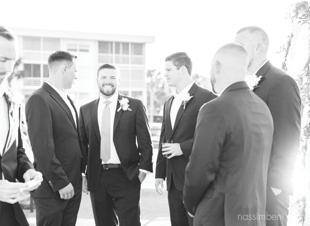 groomsmen on the catalina yacht wedding in palm beach by nassimbeni photography