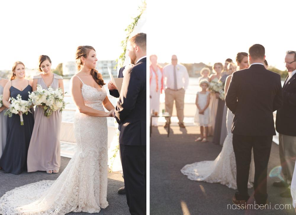 yacht wedding ceremony on the catalina wedding in palm beach by treasure coast wedding photographer nassimbeni photography