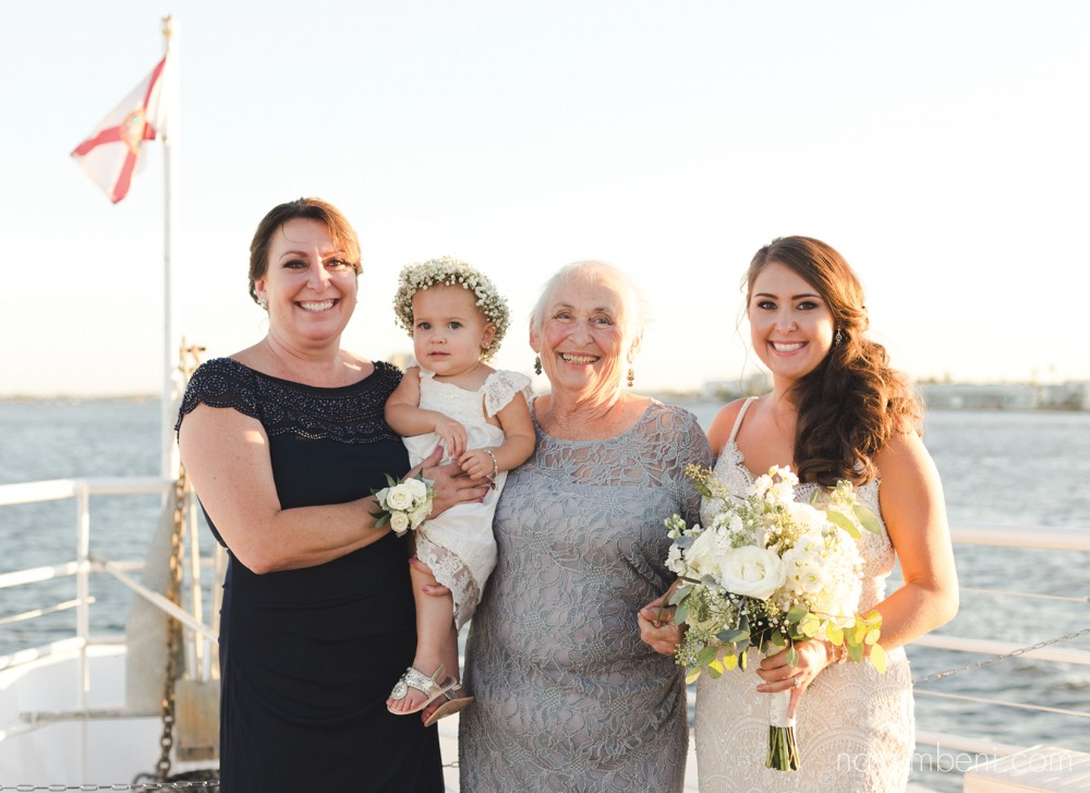 family formals of four Generations aboard the catalina by nassimbeni photography